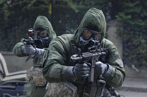 bio-warfare soldiers