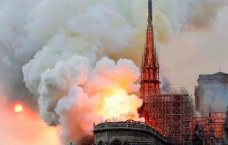 Notre Dame fire April 15, 2019